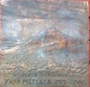 Yrjö Metsälä laatta 1919 2000